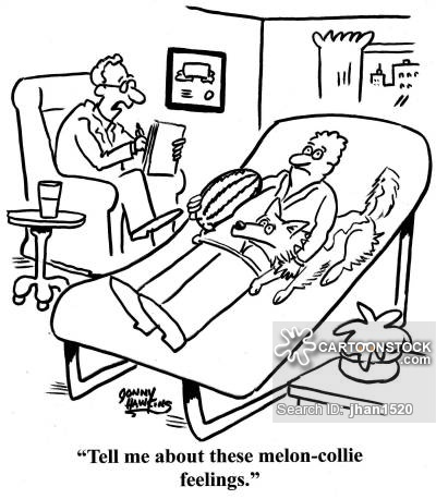 Doctor to patient: 'Tell me about these melon-collie feelings.'